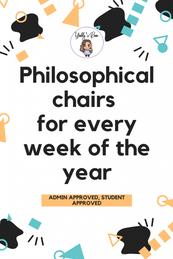 Philosophical chairs for every week of the year Yaddy's Room Yadennis Walantas