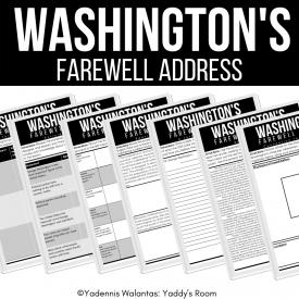 Washington's farewell address yaddy's room