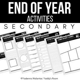 secondary End of year activities yaddy's room