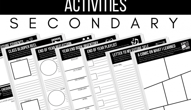 Creative End of Year Activities for Secondary Classes